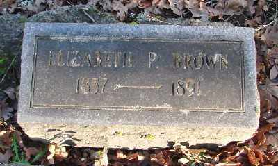 BROWN, ELIZABETH P - Marion County, Oregon | ELIZABETH P BROWN - Oregon Gravestone Photos