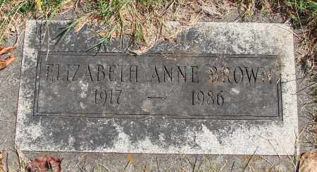 BROWN, ELIZABETH ANNE - Marion County, Oregon | ELIZABETH ANNE BROWN - Oregon Gravestone Photos