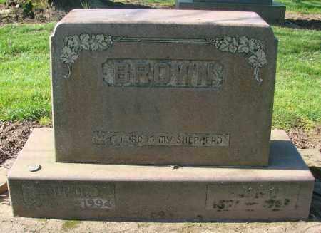 BROWN, JOHN BUFORD - Marion County, Oregon | JOHN BUFORD BROWN - Oregon Gravestone Photos