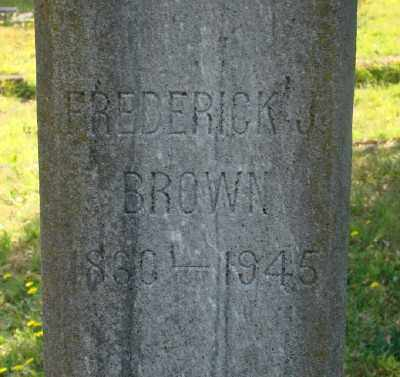 BROWN, FREDERICK JAMES - Marion County, Oregon | FREDERICK JAMES BROWN - Oregon Gravestone Photos
