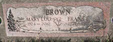 BROWN, FRANK EDWARD - Marion County, Oregon | FRANK EDWARD BROWN - Oregon Gravestone Photos