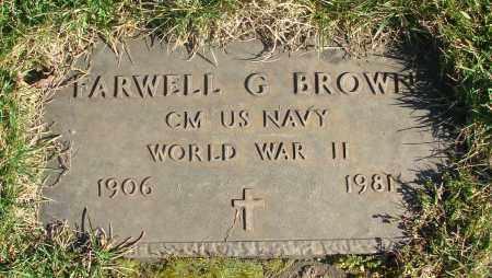 BROWN, FARWELL G - Marion County, Oregon   FARWELL G BROWN - Oregon Gravestone Photos