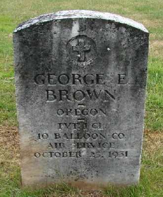 BROWN (WWI), GEORGE E - Marion County, Oregon | GEORGE E BROWN (WWI) - Oregon Gravestone Photos