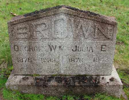 BROWN, JULIA E - Marion County, Oregon | JULIA E BROWN - Oregon Gravestone Photos