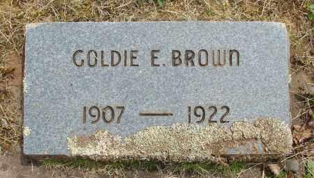 BROWN, GOLDIE E - Marion County, Oregon | GOLDIE E BROWN - Oregon Gravestone Photos