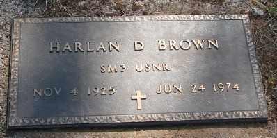 BROWN (SERV), HARLAN DUANE - Marion County, Oregon | HARLAN DUANE BROWN (SERV) - Oregon Gravestone Photos