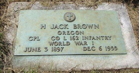 BROWN, H JACK - Marion County, Oregon | H JACK BROWN - Oregon Gravestone Photos
