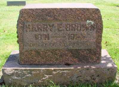 BROWN, HARRY E - Marion County, Oregon | HARRY E BROWN - Oregon Gravestone Photos