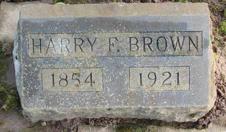 BROWN, HARRY F - Marion County, Oregon | HARRY F BROWN - Oregon Gravestone Photos
