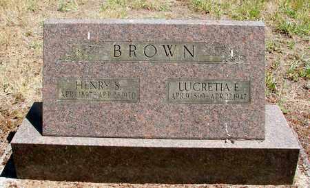 BROWN, LUCRETIA E - Marion County, Oregon | LUCRETIA E BROWN - Oregon Gravestone Photos