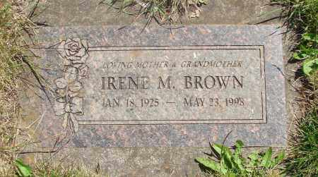 BROWN, IRENE M - Marion County, Oregon | IRENE M BROWN - Oregon Gravestone Photos
