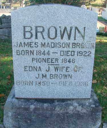 BROWN, JAMES MADISON - Marion County, Oregon | JAMES MADISON BROWN - Oregon Gravestone Photos
