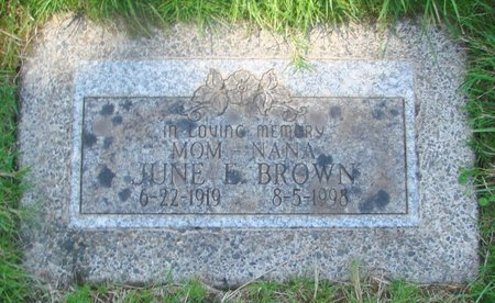 BROWN, JUNE E - Marion County, Oregon | JUNE E BROWN - Oregon Gravestone Photos