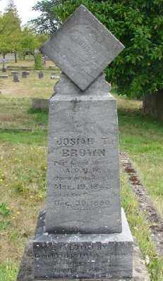 BROWN, JOSIAH T - Marion County, Oregon | JOSIAH T BROWN - Oregon Gravestone Photos