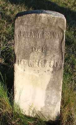 BROWN, JOHN HENRY - Marion County, Oregon   JOHN HENRY BROWN - Oregon Gravestone Photos