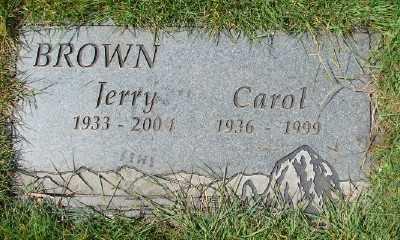 BROWN, JERRY - Marion County, Oregon | JERRY BROWN - Oregon Gravestone Photos