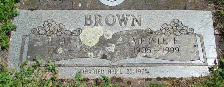 BROWN, MERYLE E - Marion County, Oregon | MERYLE E BROWN - Oregon Gravestone Photos