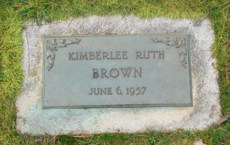 BROWN, KIMBERLEE RUTH - Marion County, Oregon | KIMBERLEE RUTH BROWN - Oregon Gravestone Photos