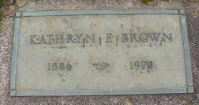 BROWN, KATHRYN F - Marion County, Oregon | KATHRYN F BROWN - Oregon Gravestone Photos