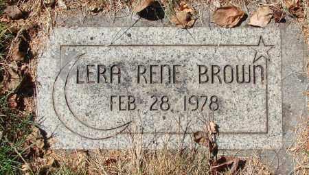 BROWN, LERA RENE - Marion County, Oregon | LERA RENE BROWN - Oregon Gravestone Photos