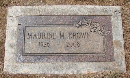 BROWN, MAURINE M - Marion County, Oregon | MAURINE M BROWN - Oregon Gravestone Photos