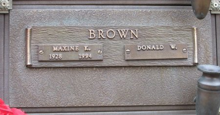BROWN, MAXINE K - Marion County, Oregon   MAXINE K BROWN - Oregon Gravestone Photos
