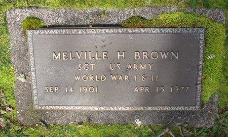 BROWN, MELVILLE H - Marion County, Oregon   MELVILLE H BROWN - Oregon Gravestone Photos