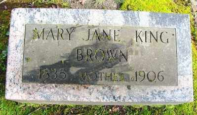 BROWN, MARY JANE - Marion County, Oregon | MARY JANE BROWN - Oregon Gravestone Photos