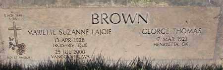 BROWN, GEORGE THOMAS - Marion County, Oregon | GEORGE THOMAS BROWN - Oregon Gravestone Photos