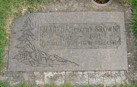 BROWN, MARTHA M - Marion County, Oregon | MARTHA M BROWN - Oregon Gravestone Photos