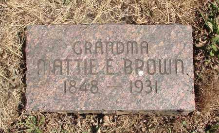 BROWN, MARTHA ELIZABETH - Marion County, Oregon   MARTHA ELIZABETH BROWN - Oregon Gravestone Photos