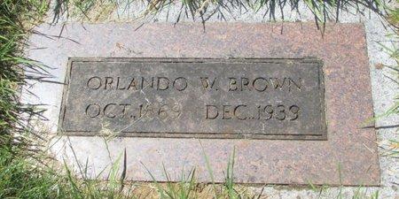 BROWN, ORLANDO WESLEY - Marion County, Oregon | ORLANDO WESLEY BROWN - Oregon Gravestone Photos