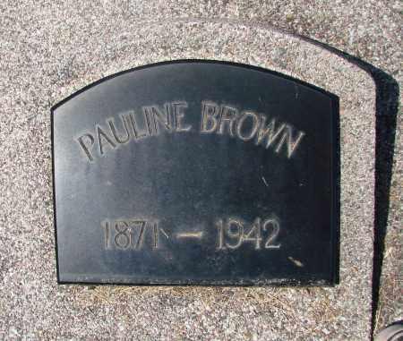 BROWN, PAULINE - Marion County, Oregon   PAULINE BROWN - Oregon Gravestone Photos