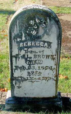 BROWN, REBECCA - Marion County, Oregon   REBECCA BROWN - Oregon Gravestone Photos