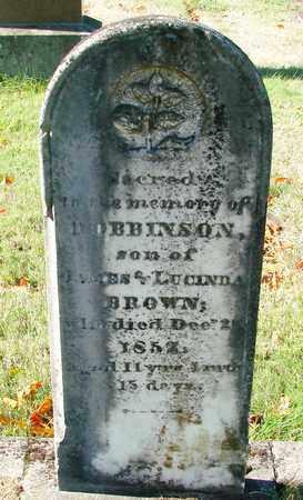 BROWN, ROBBINSON - Marion County, Oregon | ROBBINSON BROWN - Oregon Gravestone Photos