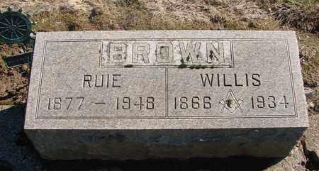 BROWN, WILLIS - Marion County, Oregon | WILLIS BROWN - Oregon Gravestone Photos