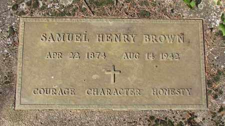 BROWN, SAMUEL HENRY - Marion County, Oregon   SAMUEL HENRY BROWN - Oregon Gravestone Photos
