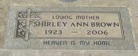 BROWN, SHIRLEY ANN - Marion County, Oregon | SHIRLEY ANN BROWN - Oregon Gravestone Photos