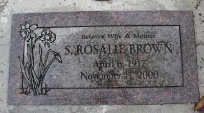 BROWN, S ROSALIE - Marion County, Oregon | S ROSALIE BROWN - Oregon Gravestone Photos