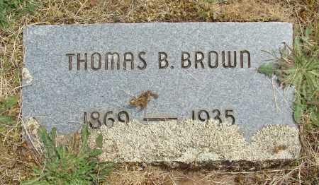 BROWN, THOMAS B - Marion County, Oregon | THOMAS B BROWN - Oregon Gravestone Photos