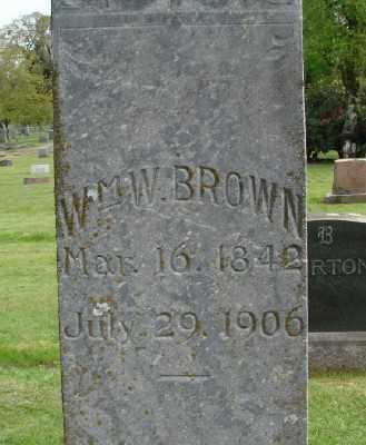BROWN, WILLIAM W - Marion County, Oregon | WILLIAM W BROWN - Oregon Gravestone Photos