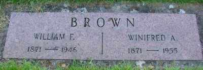 BROWN, WINIFRED A - Marion County, Oregon | WINIFRED A BROWN - Oregon Gravestone Photos