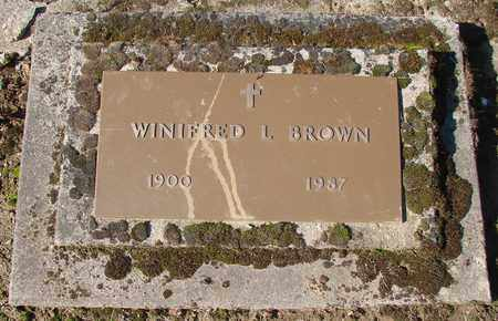 BROWN, WINIFRED L - Marion County, Oregon | WINIFRED L BROWN - Oregon Gravestone Photos