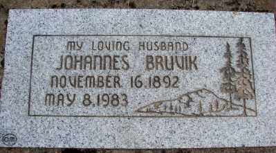 BRUVIK, JOHANNES - Marion County, Oregon | JOHANNES BRUVIK - Oregon Gravestone Photos