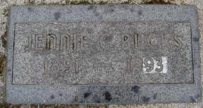BUCKS, JENNIE CATHERINE - Marion County, Oregon | JENNIE CATHERINE BUCKS - Oregon Gravestone Photos