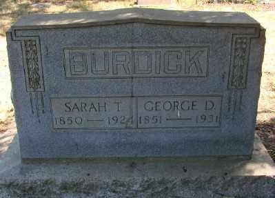 BURDICK, SARAH T - Marion County, Oregon   SARAH T BURDICK - Oregon Gravestone Photos