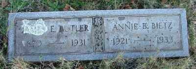 BUTLER, JAMES E - Marion County, Oregon | JAMES E BUTLER - Oregon Gravestone Photos