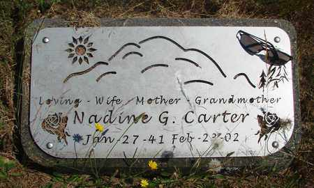 CARTER, NADINE G - Marion County, Oregon | NADINE G CARTER - Oregon Gravestone Photos