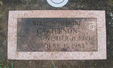 CATTERSPM, WELDON ALLUINE - Marion County, Oregon   WELDON ALLUINE CATTERSPM - Oregon Gravestone Photos