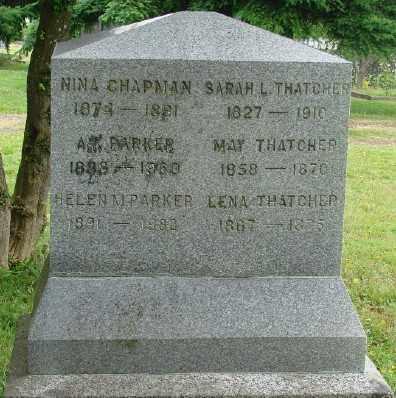 CHAPMAN, NINA - Marion County, Oregon   NINA CHAPMAN - Oregon Gravestone Photos
